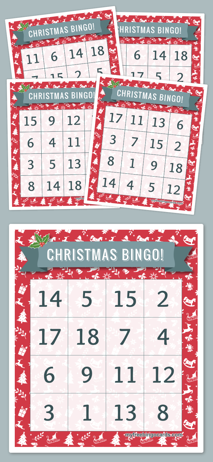 Christmas Bingo! | Free Printable Bingo Cards, Bingo Cards