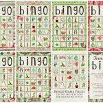 Christmas Bingo Game   Kerstbingo, Zelfgemaakte Kerst