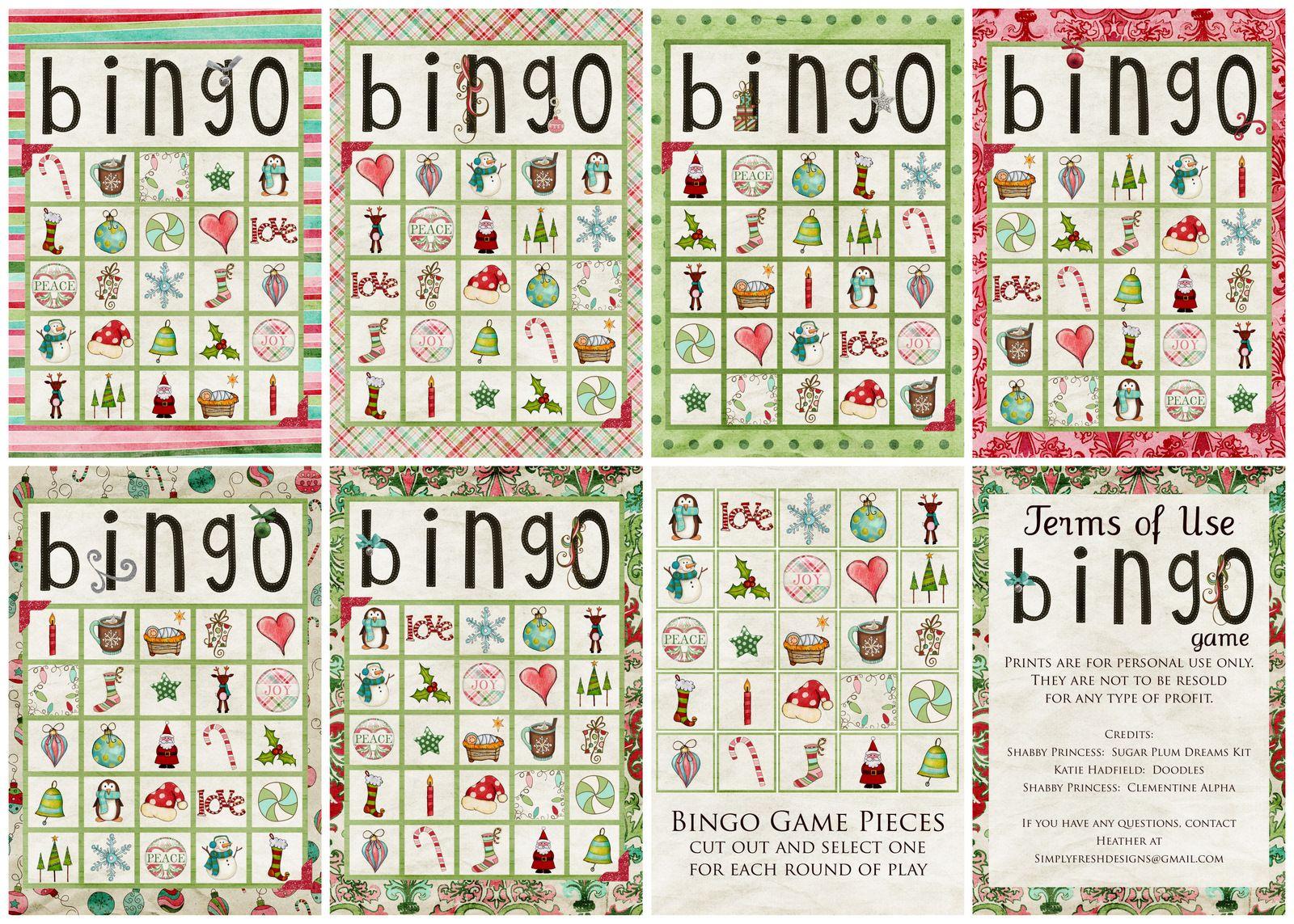Christmas Bingo Game - Kerstbingo, Zelfgemaakte Kerst
