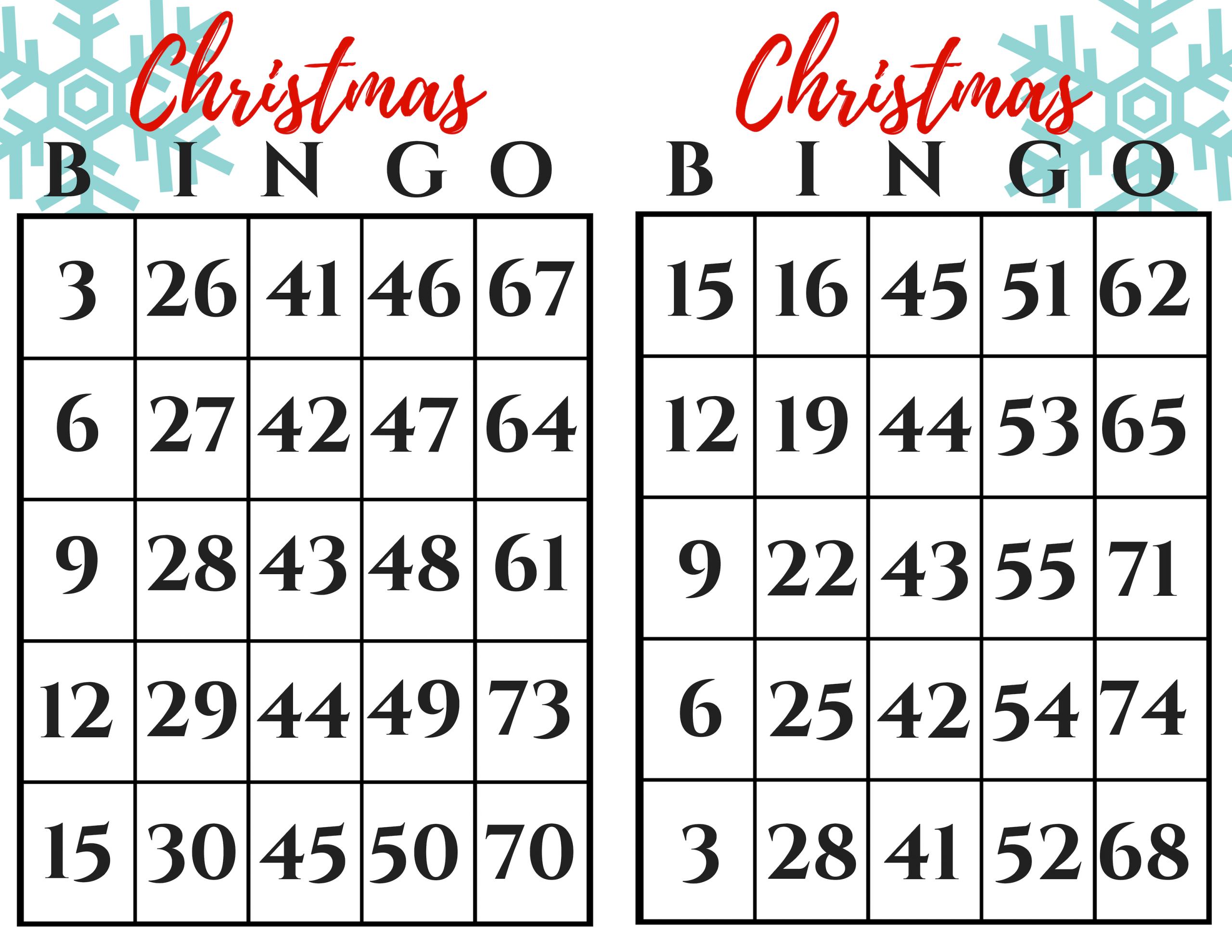 Christmas Bingo Gift Exchange Game - December Pin Challenge