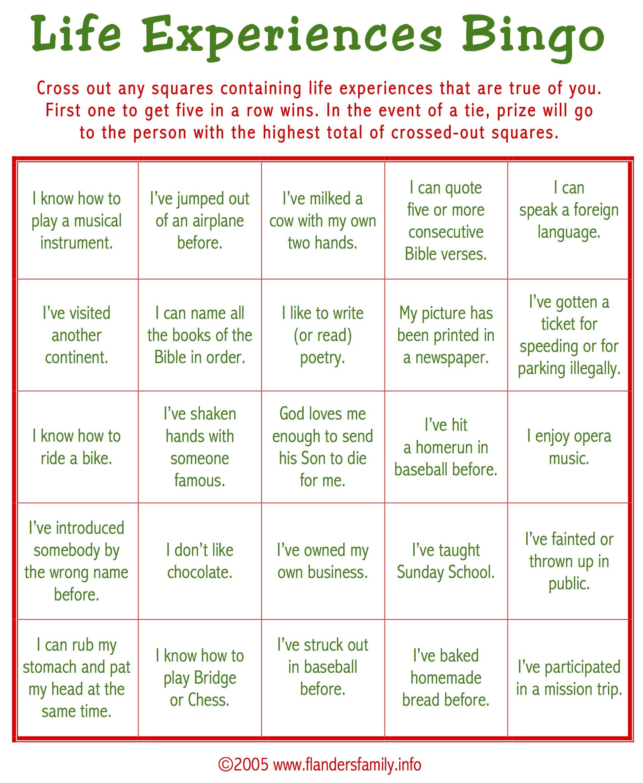 Christmas Ice Breaker Bingo (Free Printable) - Flanders