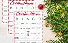 Christmas Movie Bingo Printables – These Free Printables Are