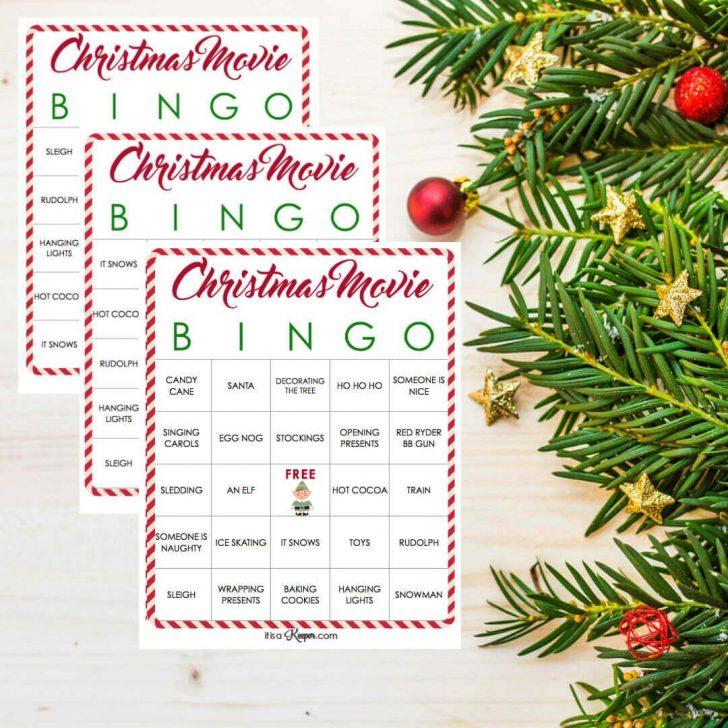 Christmas Movie Bingo Cards Printable Free