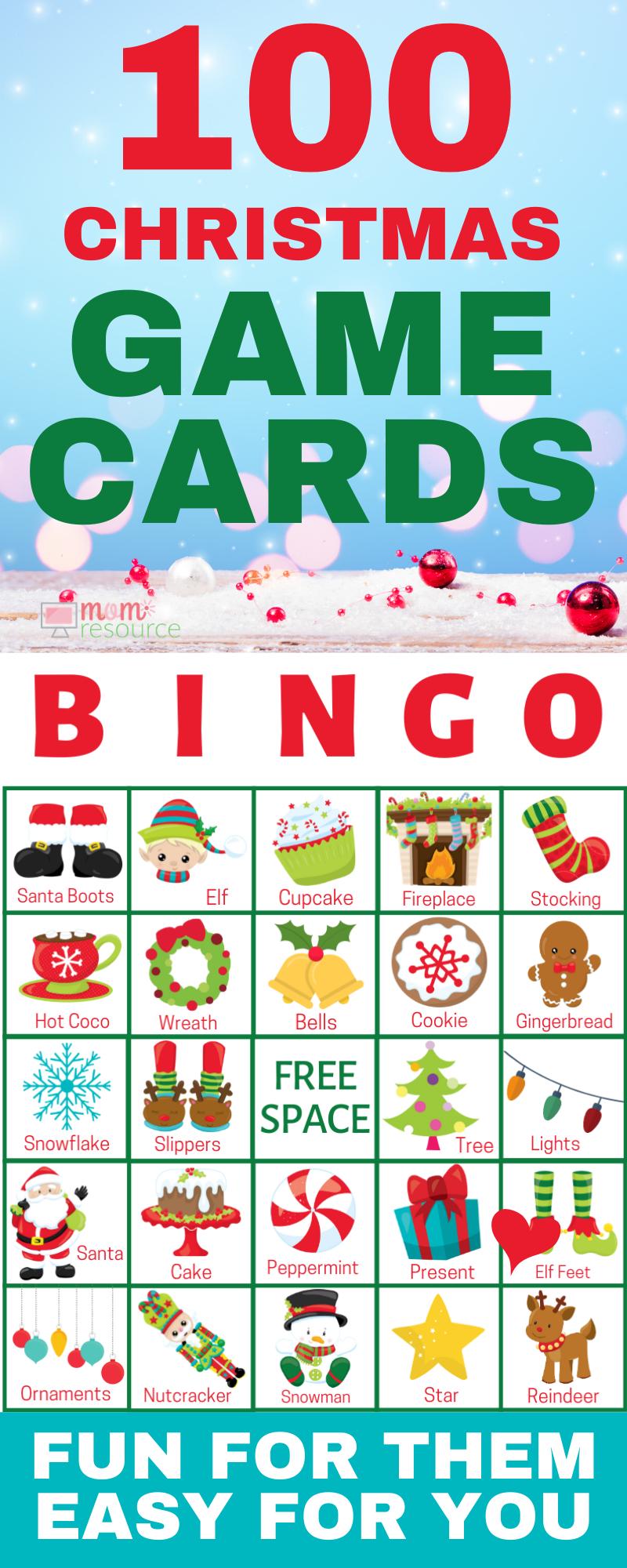 Christmas Printable Bingo Cards For Large Group (Up To 140