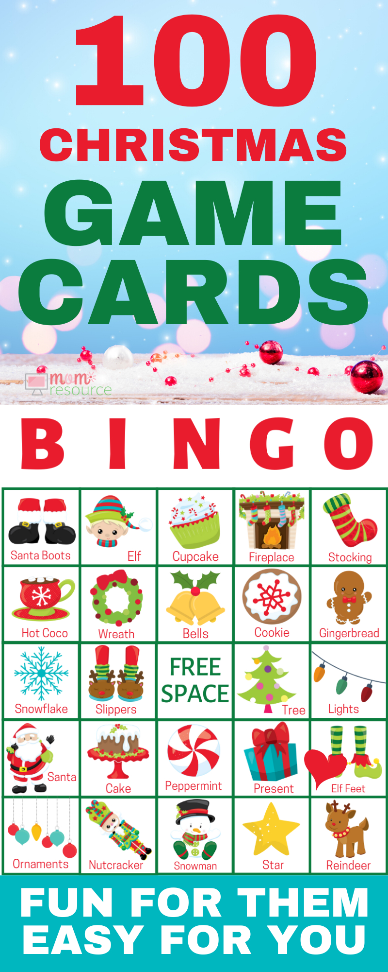 Christmas Printable Bingo Cards For Large Group (Up To 140