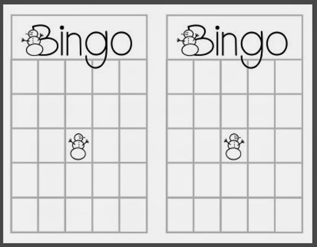 Christmas+Blank+Bingo+Card+Template | Bingo Card Template