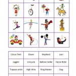 Circus Bingo   English Esl Worksheets For Distance Learning