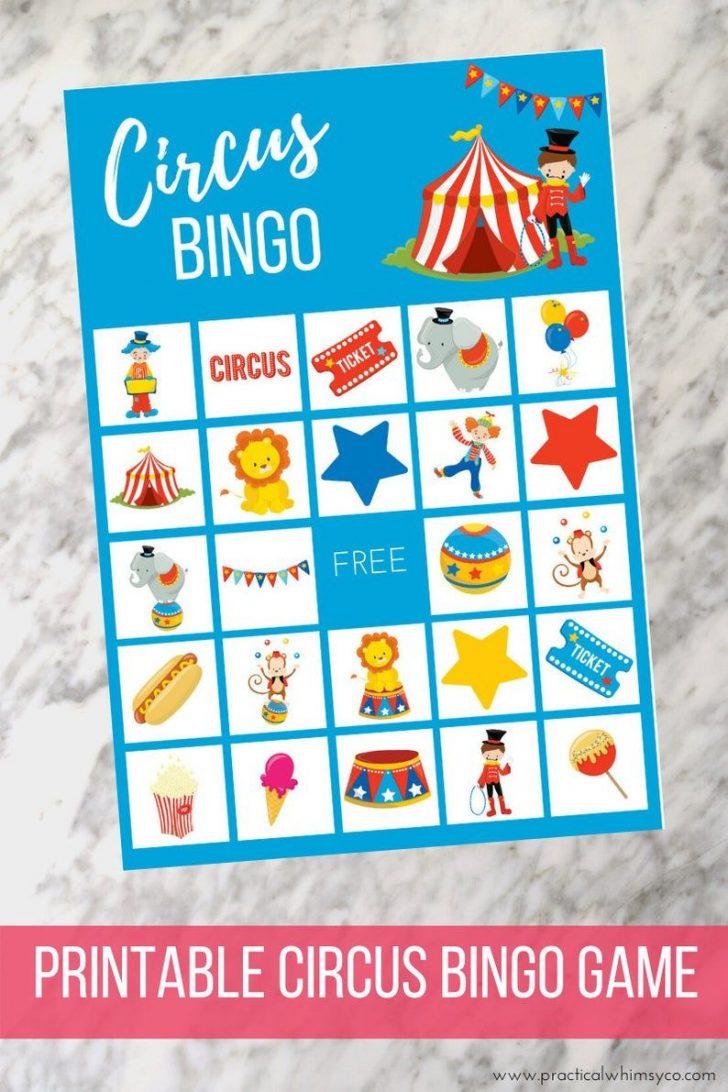 Free Printable Circus Bingo Cards