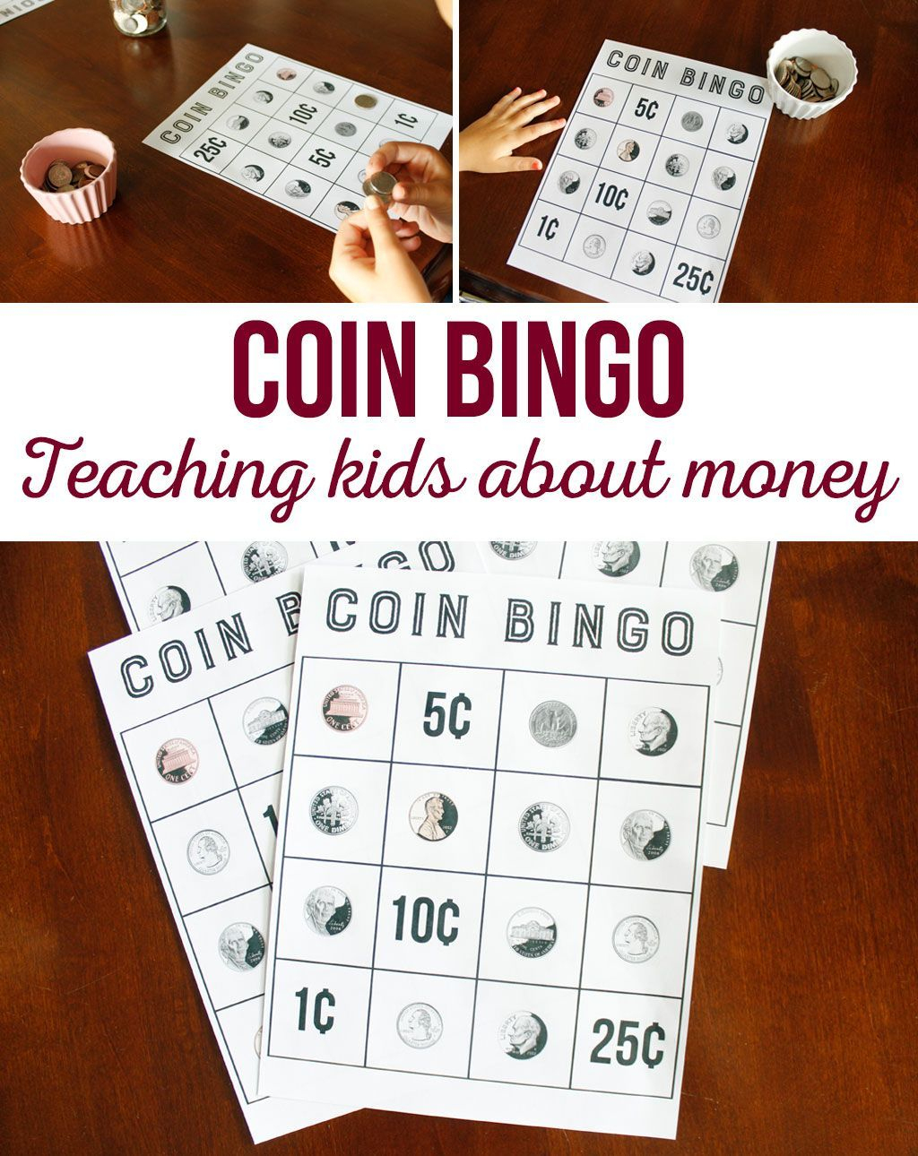 Coin Bingo Free Printable | Money Games For Kids, Learning