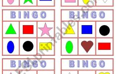 Color And Shape Bingo – Esl Worksheetmiss Yarith