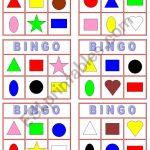 Color And Shape Bingo   Esl Worksheetmiss Yarith
