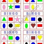 Color Shape Bingo!   Esl Worksheetyarith