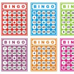 Colorful Bingo Cards Free Vector | Cartelas De Bingo, Bingo