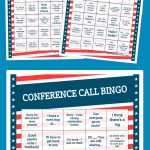 Conference Call Bingo   Bingo Card Generator, Free Printable