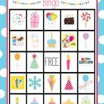 Cute Free Printable Birthday Bingo Game   Valentine Bingo