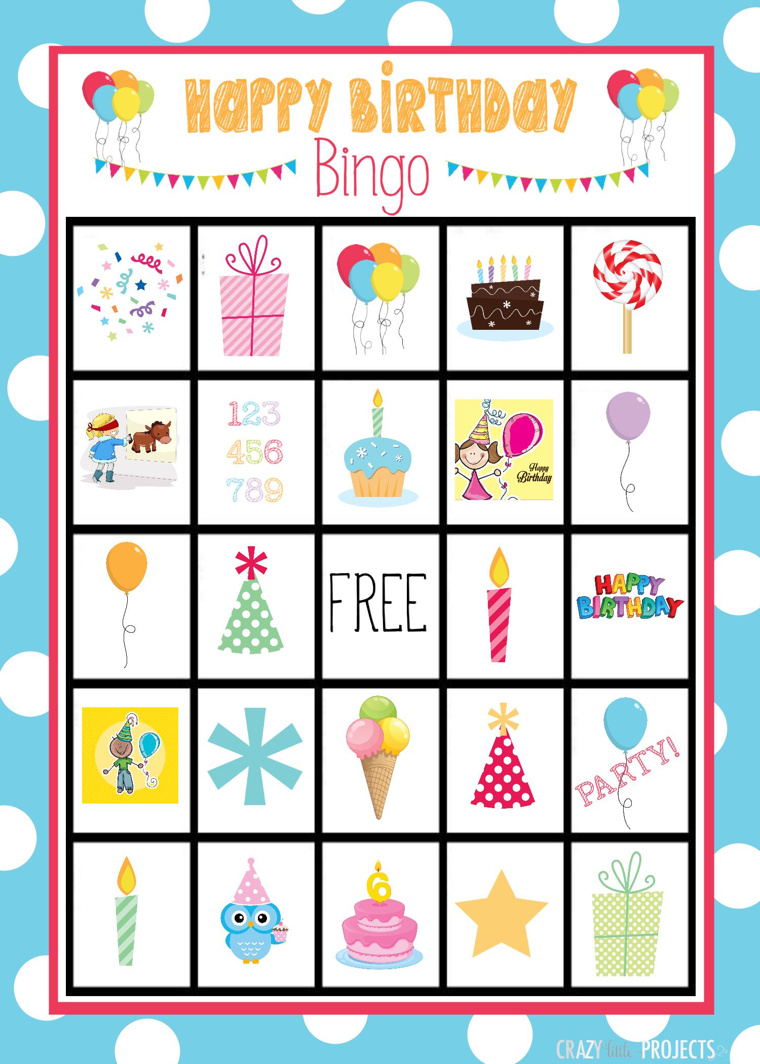 Cute Free Printable Birthday Bingo Game | Valentine Bingo