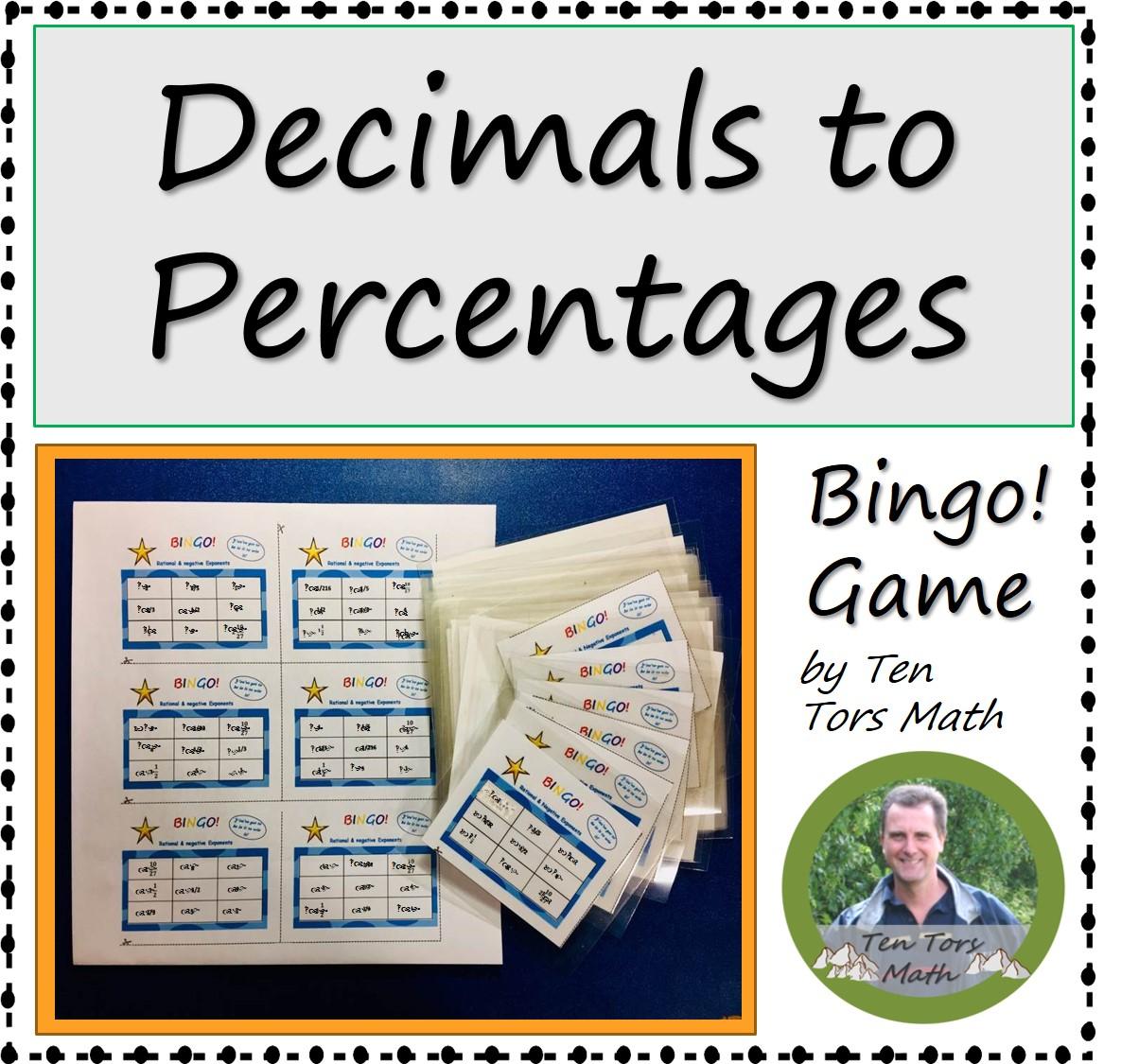 Decimals To Percentages Game