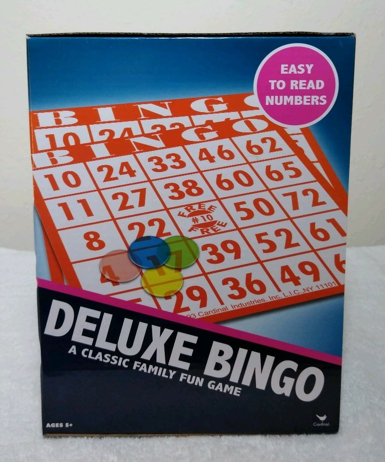 Deluxe Bingo Cage Game Complete #1055 Cardinal Ind 2002