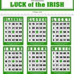 Digital St. Patrick's Day Bingo Cards For Crafts / Ephemera