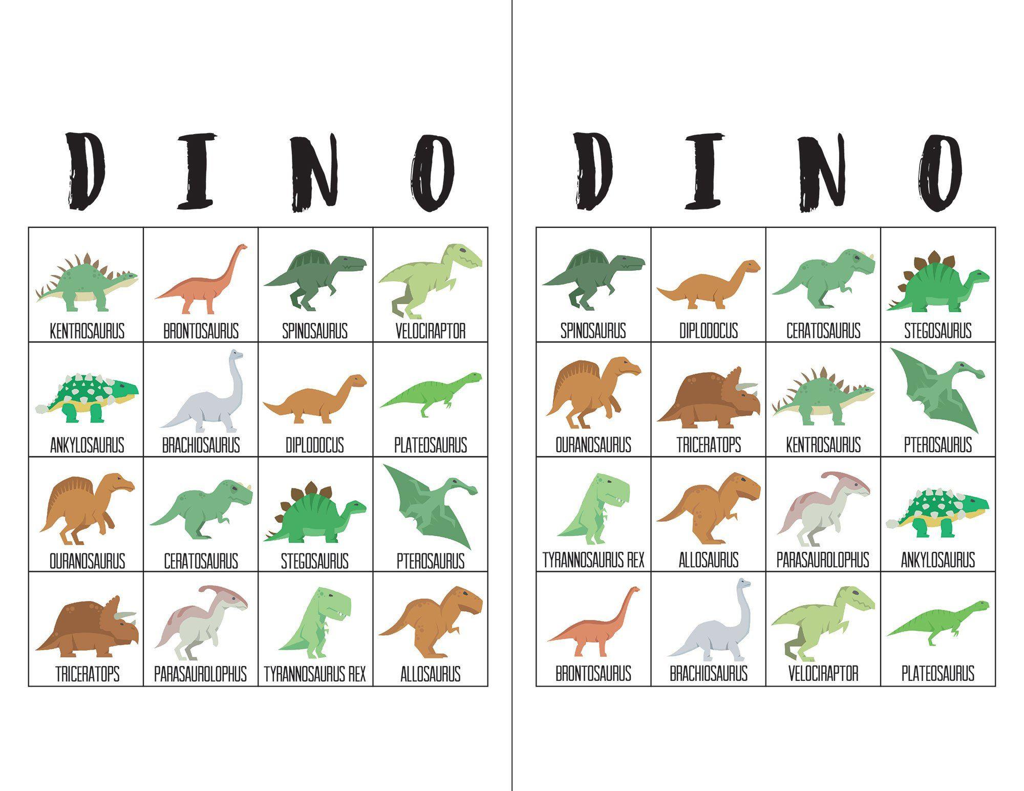 Dinosaur Bingo Cards | Bingo Cards, Bingo For Kids, Dinosaur