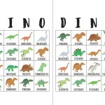 Dinosaur Bingo Cards | Bingo Cards, Dinosaur Birthday Party