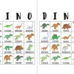 Dinosaur Bingo Cards   The Okie Home