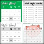 Dolch Sight Word Games (Primer): Bingo, Uno, Dominoes, And