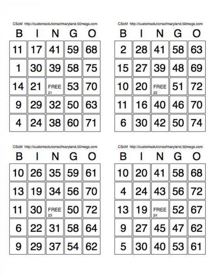 Printable Bingo Caller Cards