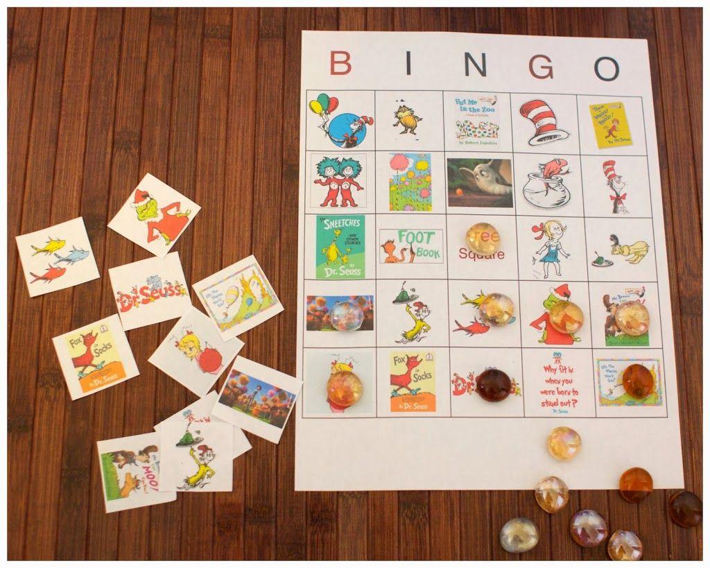 Dr Seuss Bingo Game Free Printable Includes Ten Game Boards