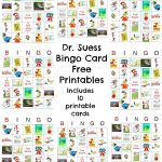 Dr Seuss Bingo Game Free Printable   Preschool Dr. Suess