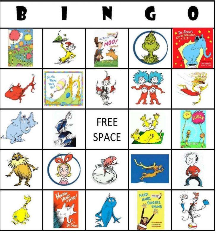 Printable Dr Seuss Bingo Cards