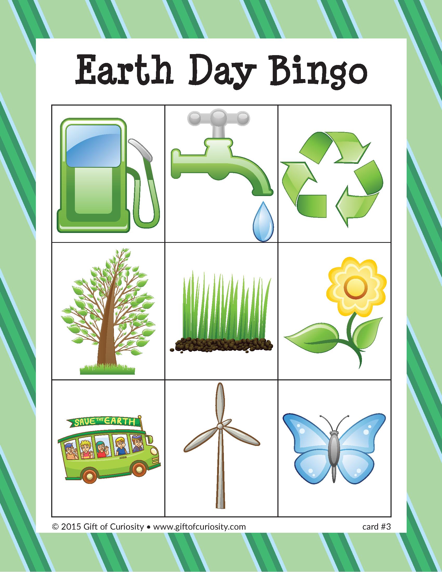 Earth Day Bingo - Gift Of Curiosity
