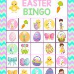 Easter Bingo Printable For Kids  Fun Easter Game For Kids