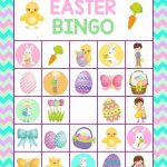 Easter Bingo Printable For Kids  Fun Easter Game For Kids