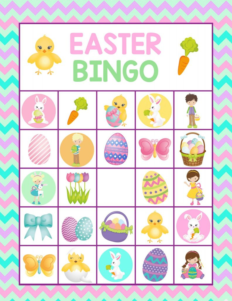 Easter Bingo Printable For Kids- Fun Easter Game For Kids