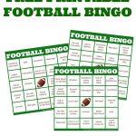 Easy Football Watching + Football Bingo Cards | Bingo, Bingo