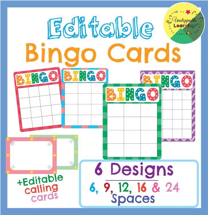 Printable Bingo Cards Editable