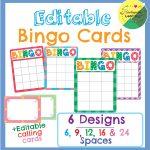 Editable Bingo Cards | Bingo Cards, Bingo Template, Bingo