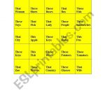 English Worksheets: This, That, These, Those + Plural