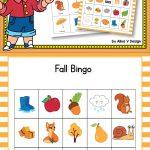 Fall Bingo Cards Preschool   Autumn Bingo, Fall Games