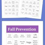 Fall Prevention Bingo | Free Bingo Cards, Free Printable