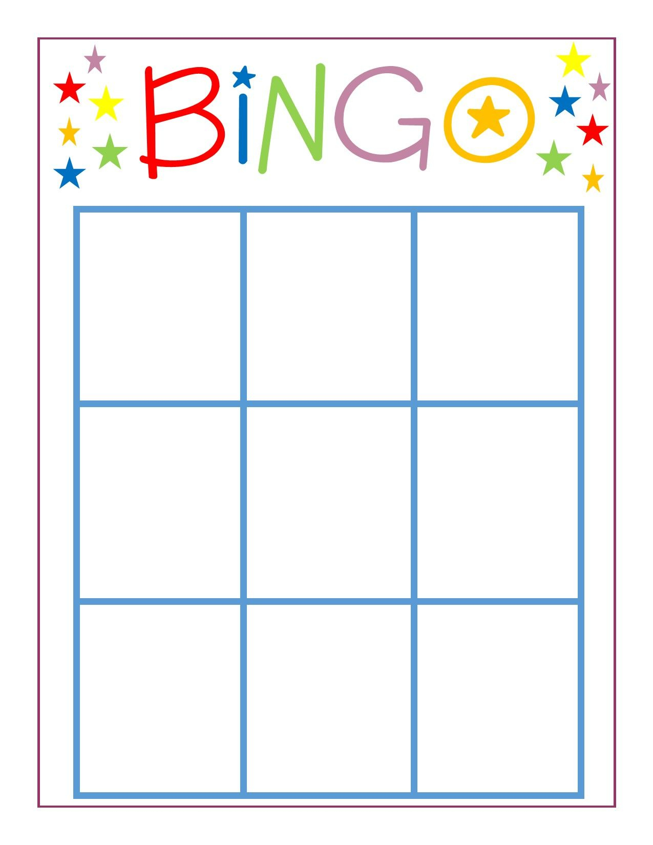 Family Game Night: Bingo | Bingo Card Template, Bingo