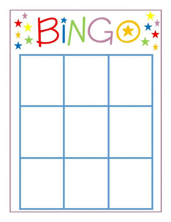 Printable Bingo Cards Blank 3×3