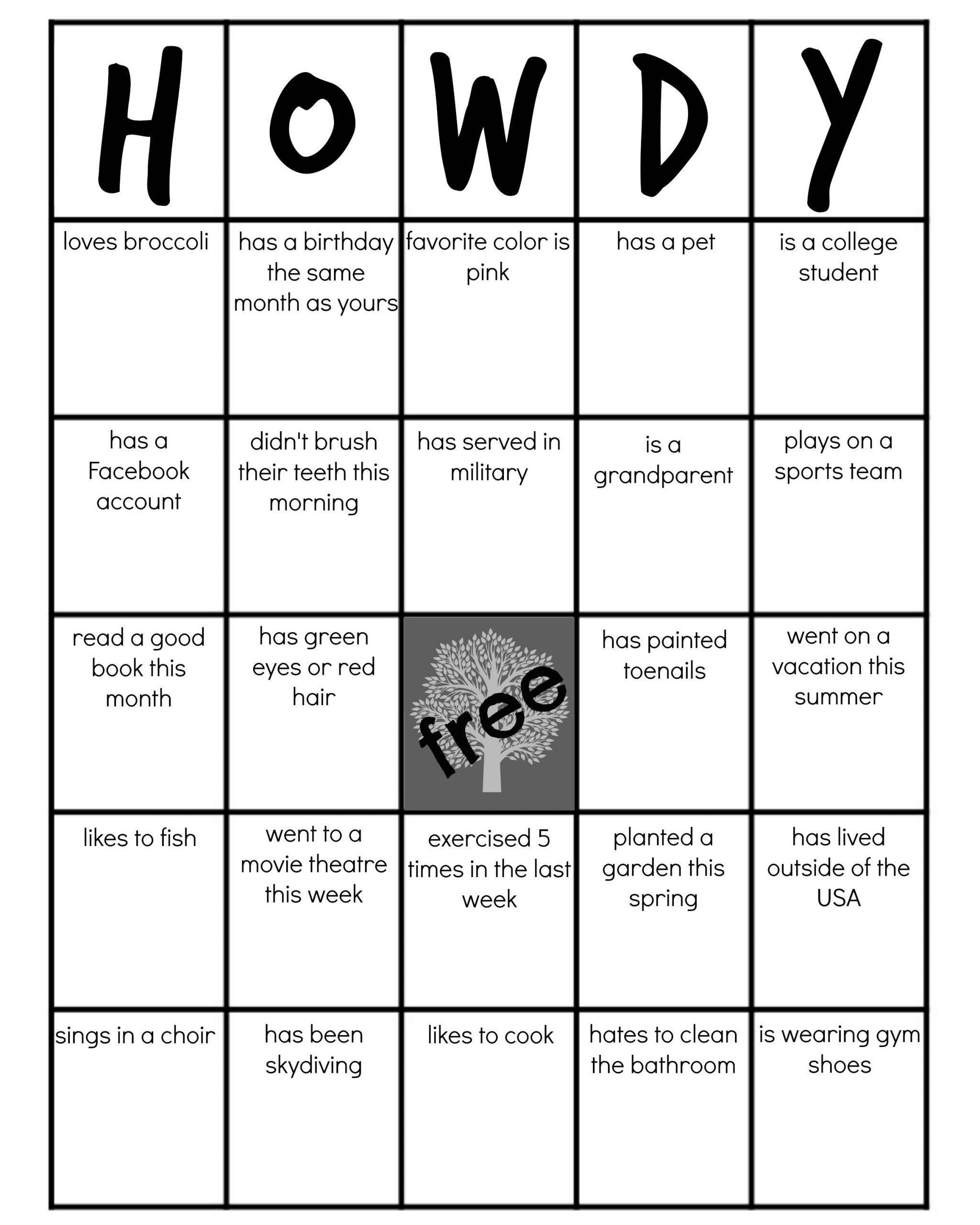 Family Reunion: Get-To-Know-You Bingo | Family Reunion Games