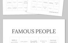 Famous People Bingo | Free Printable Bingo Cards, Free Bingo