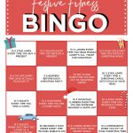 Festive Fitness Bingo | Card Workout, Bingo, Movie Workouts
