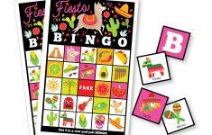 Fiesta Bingo Game – Kid's Printable Bingo Game – Bingo