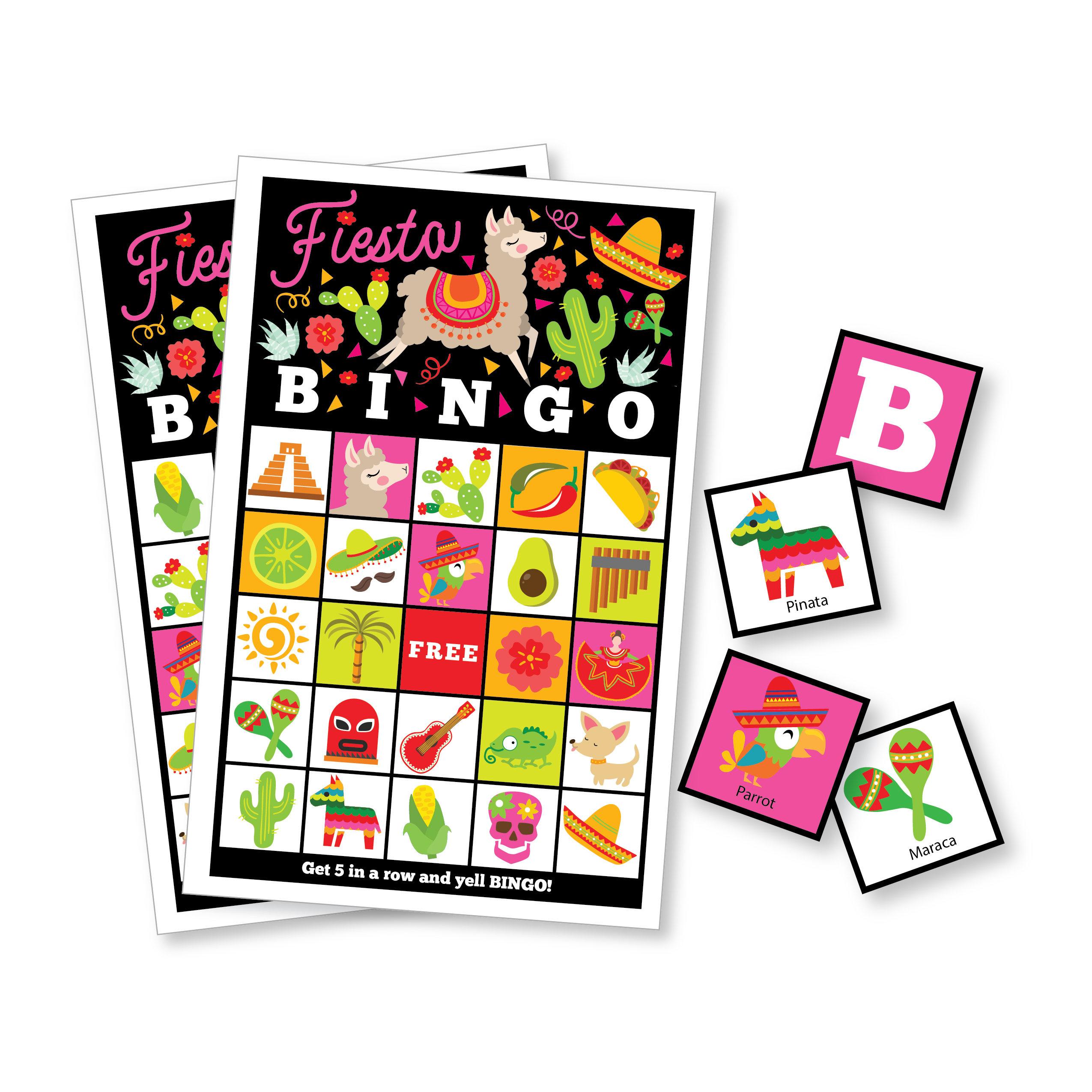 Fiesta Bingo Game - Kid's Printable Bingo Game - Bingo