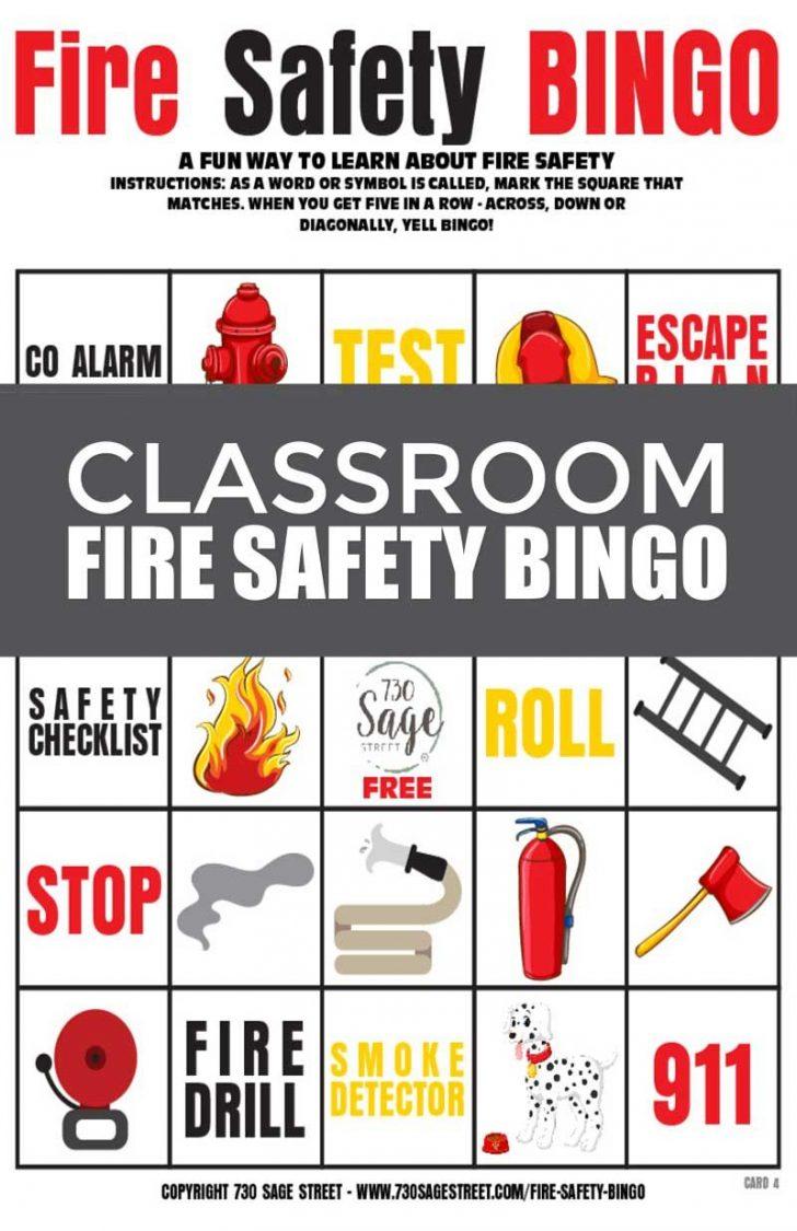 Free Printable Safety Bingo Cards