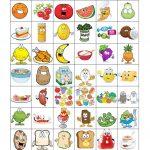 Food Bingo Concentration Game   English Esl Worksheets For